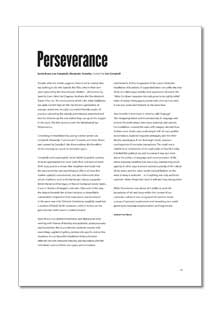 Perseverance And Determination Essay Sam Patch The Famous Jumper Essays College Application Writers Needed also Persuasive Essay Examples High School  Example Essay Papers